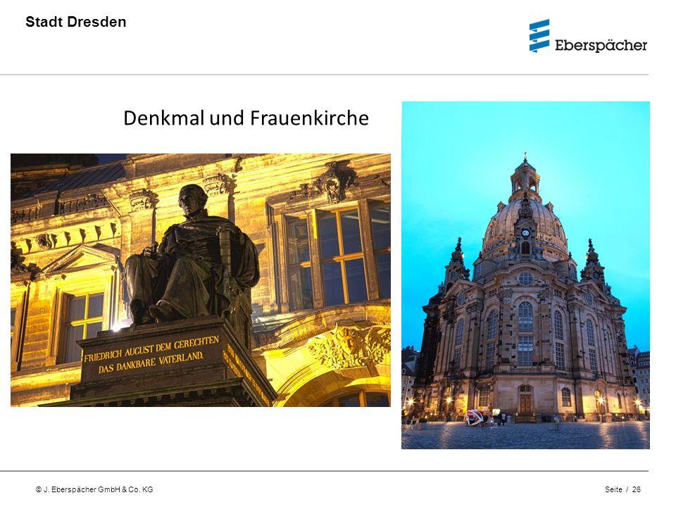 © J. Eberspächer GmbH & Co. KG Seite / 26 Stadt Dresden Denkmal und Frauenkirche
