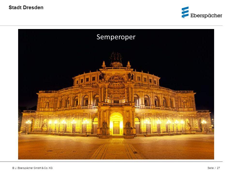 © J. Eberspächer GmbH & Co. KG Seite / 27 Stadt Dresden Semperoper