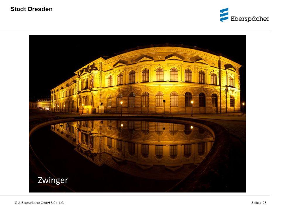 © J. Eberspächer GmbH & Co. KG Seite / 28 Stadt Dresden Zwinger