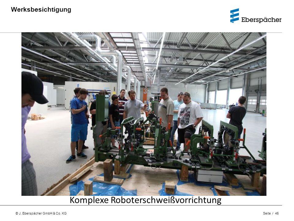© J. Eberspächer GmbH & Co. KG Seite / 45 Werksbesichtigung Komplexe Roboterschweißvorrichtung