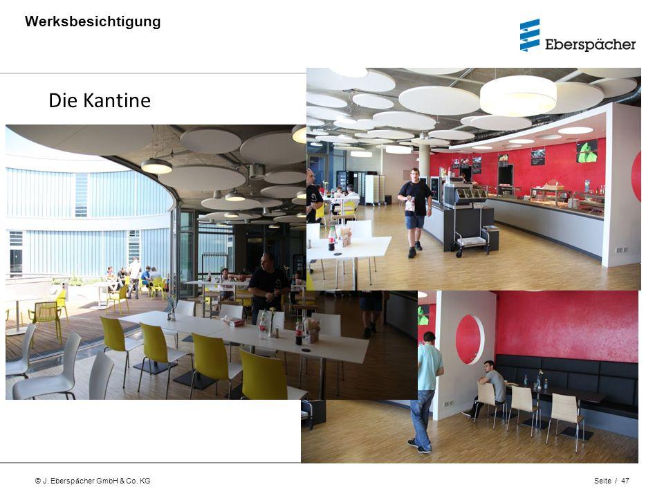 © J. Eberspächer GmbH & Co. KG Seite / 47 Werksbesichtigung Die Kantine