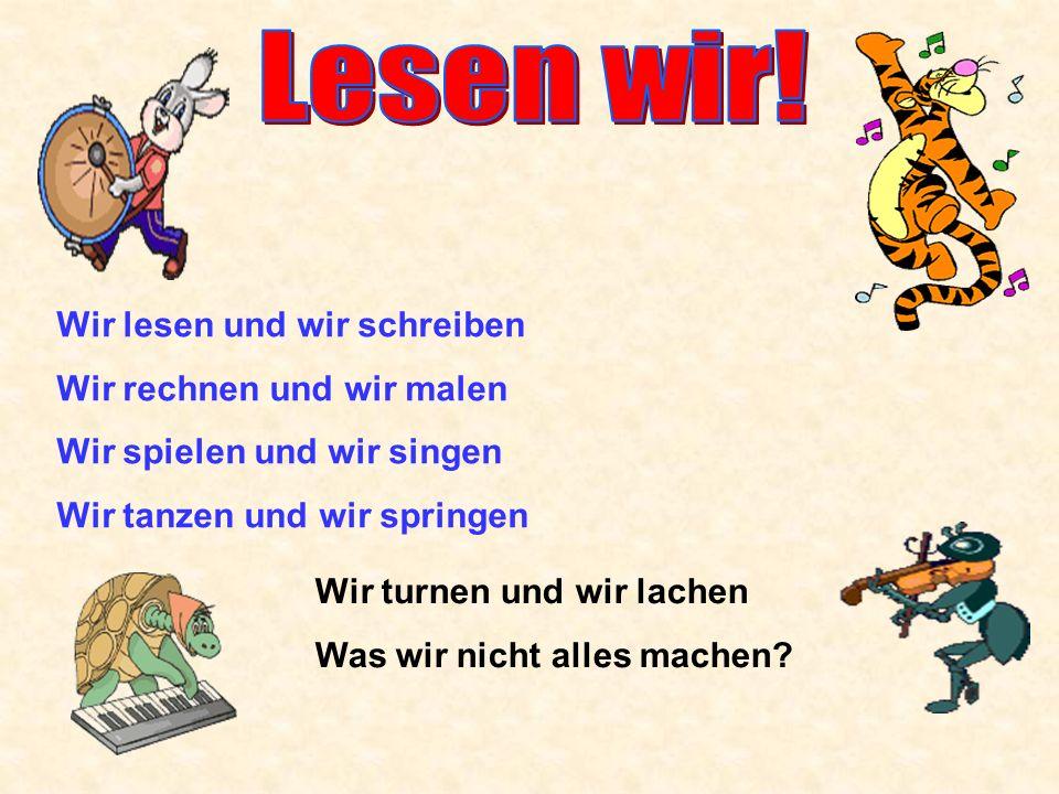 ед.число ед. число Ich lese Du liest Er Sie liest es мн.