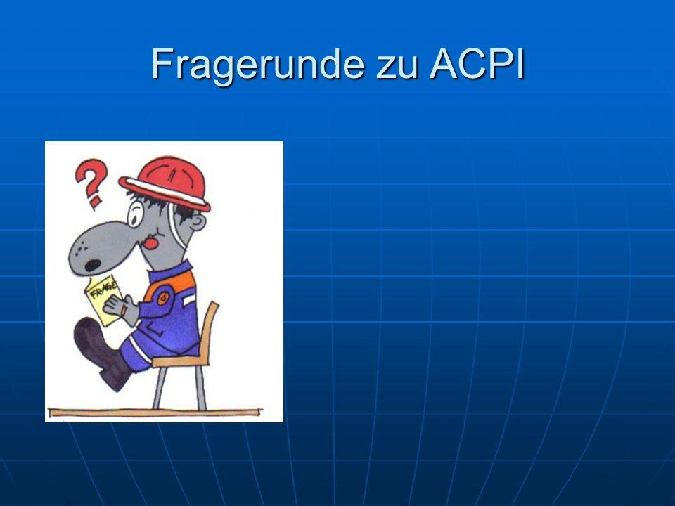 Fragerunde zu ACPI