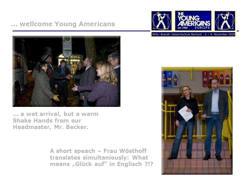 Press Review Schulprojekt Mit den Young Americans war Gänsehaut garantiert 05.11.2009, Britta Bingmann, Bochum.