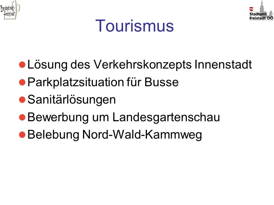 Tourismus Lösung des Verkehrskonzepts Innenstadt Parkplatzsituation für Busse Sanitärlösungen Bewerbung um Landesgartenschau Belebung Nord-Wald-Kammwe