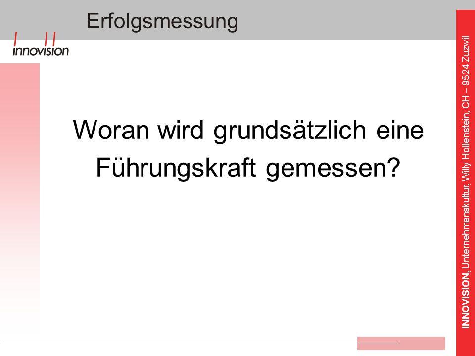 INNOVISION, Unternehmenskultur, Willy Hollenstein, CH – 9524 Zuzwil Unser Wirkungskreis: Chancen Taten Lebenslinie Erfolgsmessung