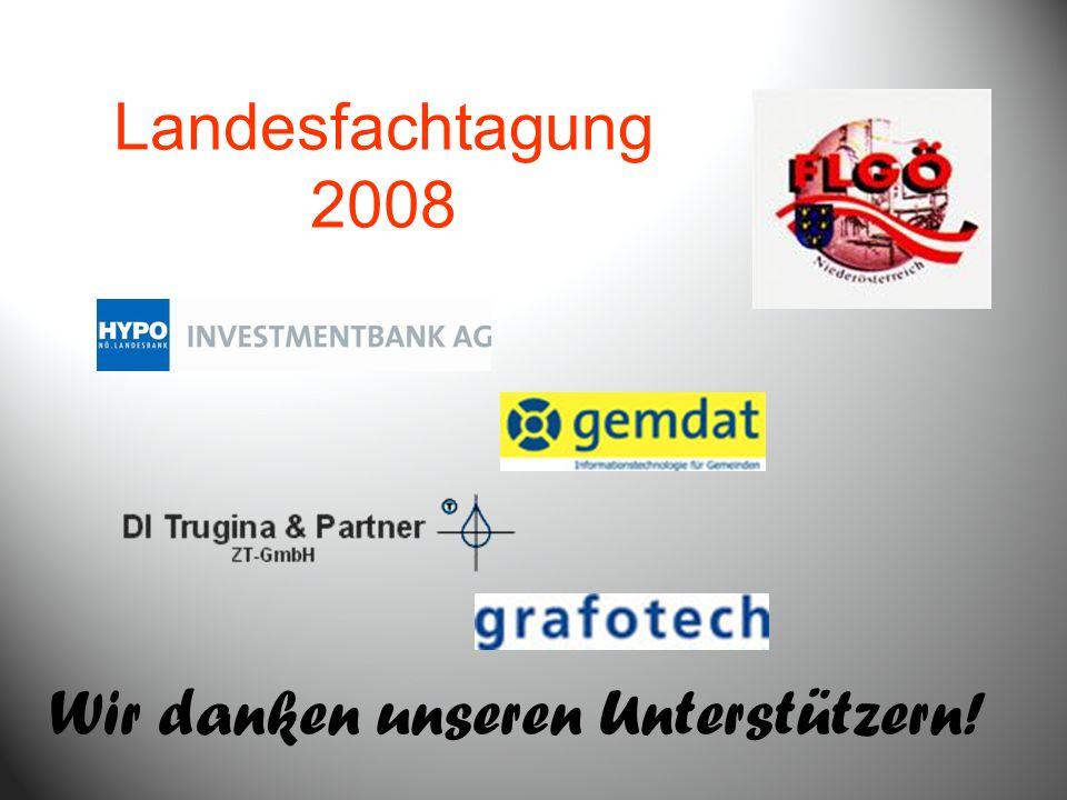Wir danken unseren Unterstützern! Landesfachtagung 2008