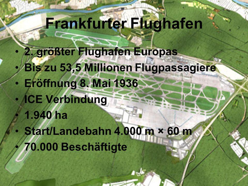 Infrastruktur Flughafen Frankfurt ICE/Bahnverbindung Autobahnen(A3, A5, A66) Schiffsverkehr ( Rhein, Main,Häfen)