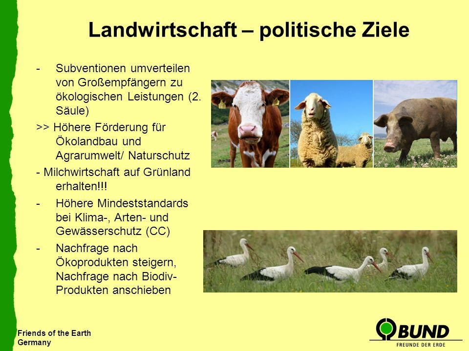 Friends of the Earth Germany Landwirtschaft – politische Ziele -Subventionen umverteilen von Großempfängern zu ökologischen Leistungen (2. Säule) >> H
