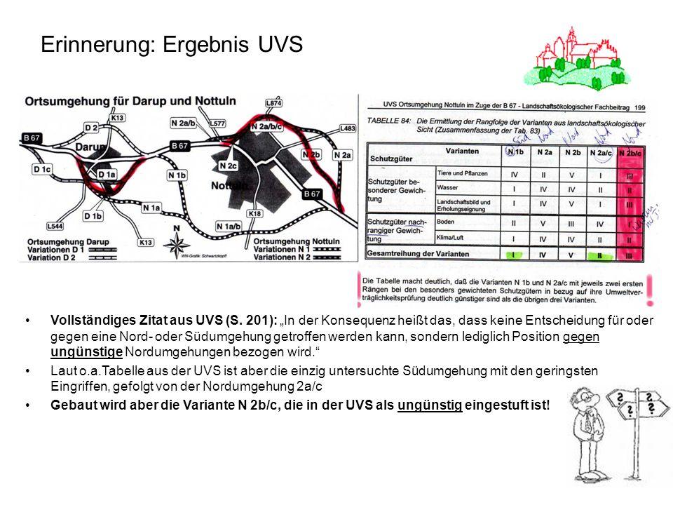 4 Erinnerung: Ergebnis UVS Vollständiges Zitat aus UVS (S. 201): In der Konsequenz heißt das, dass keine Entscheidung für oder gegen eine Nord- oder S