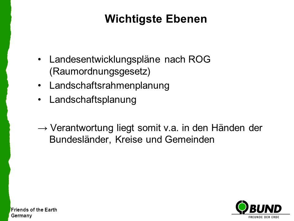 Friends of the Earth Germany Wichtigste Ebenen Landesentwicklungspläne nach ROG (Raumordnungsgesetz) Landschaftsrahmenplanung Landschaftsplanung Veran