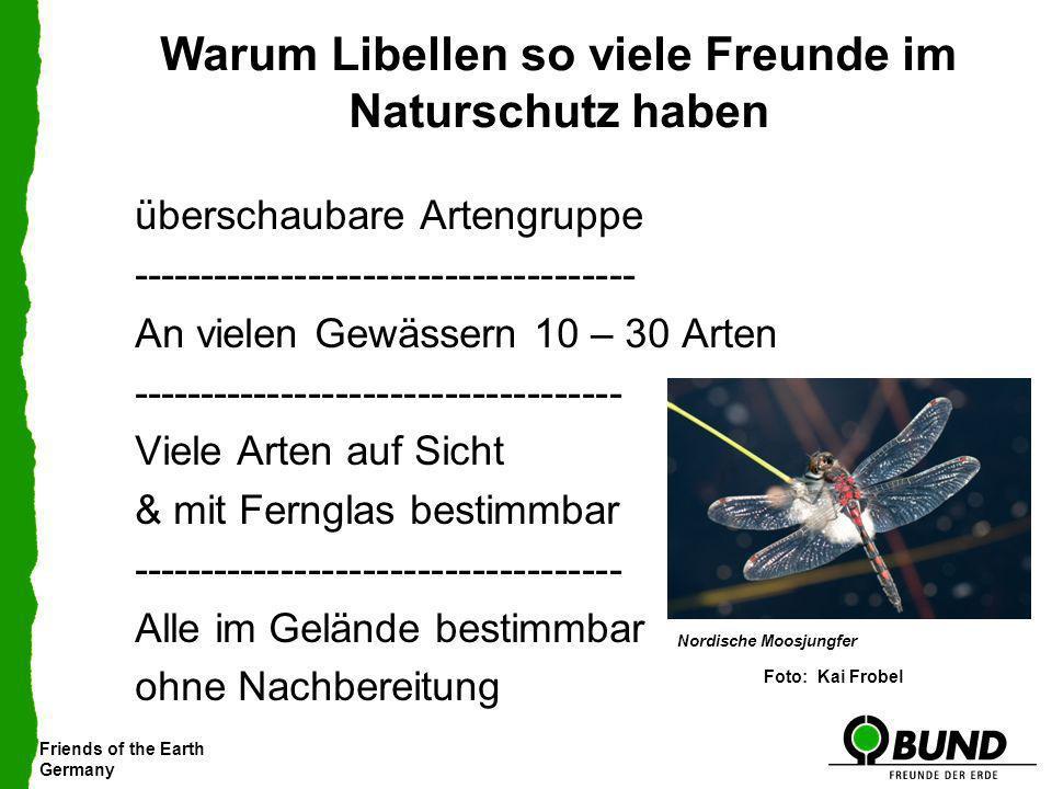 Friends of the Earth Germany Warum Libellen so viele Freunde im Naturschutz haben überschaubare Artengruppe ------------------------------------- An v