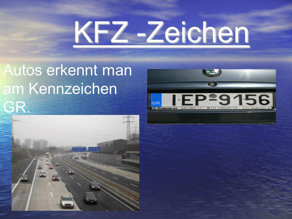 KFZ -Zeichen KFZ -Zeichen Autos erkennt man am Kennzeichen GR.