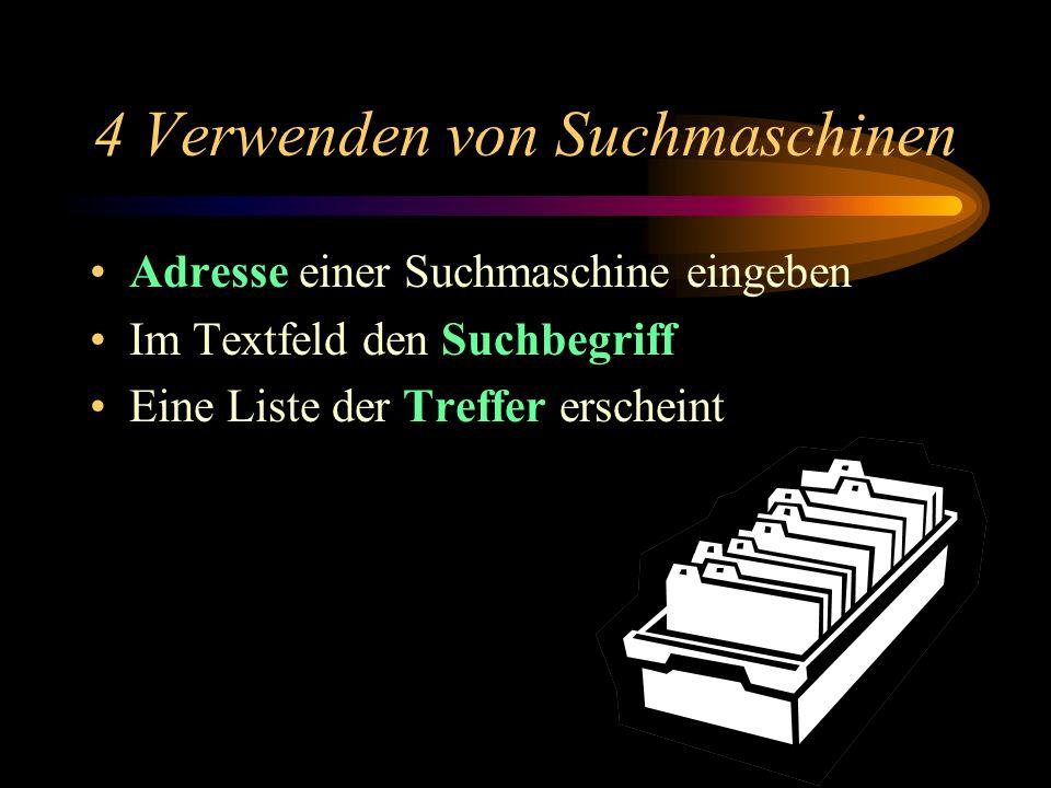 3 Suche nach Katalog Weitere Beispiele auf unserer Homepage: www.franz-marc-gymnasium.de Unterricht/Projekte Internetadressen (auf der gleichen Seite)