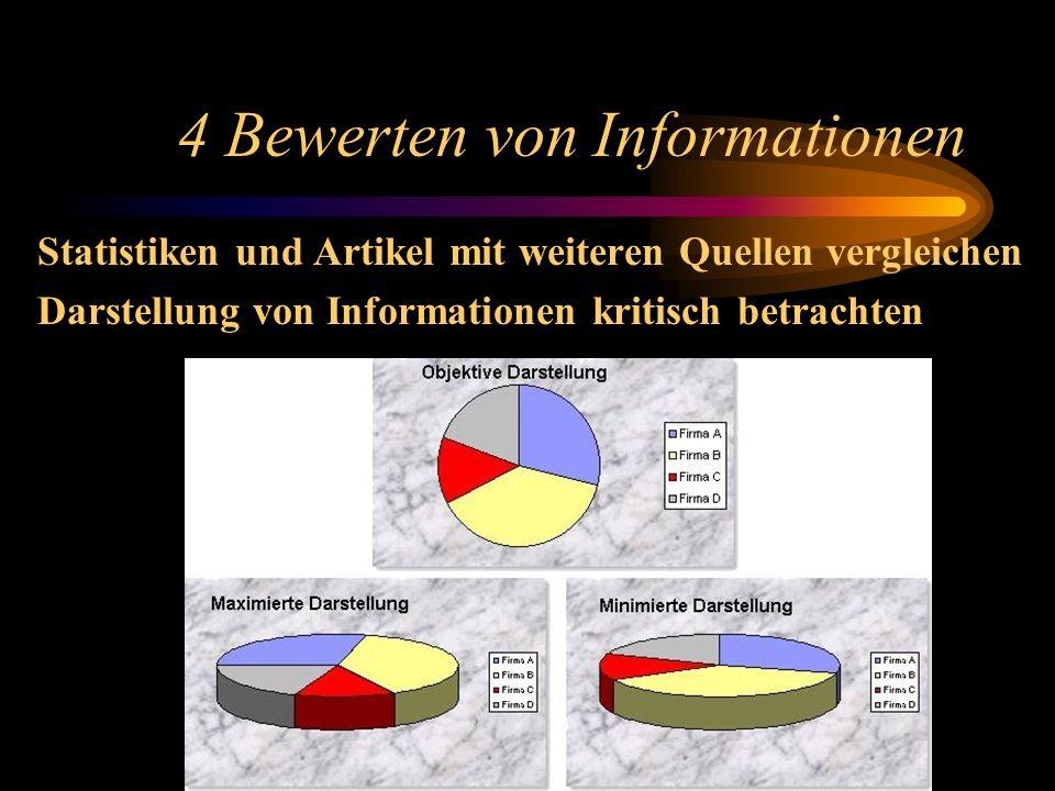 4 Bewerten von Informationen Auf Aktualität überprüfen – Datum (?) Z. B.