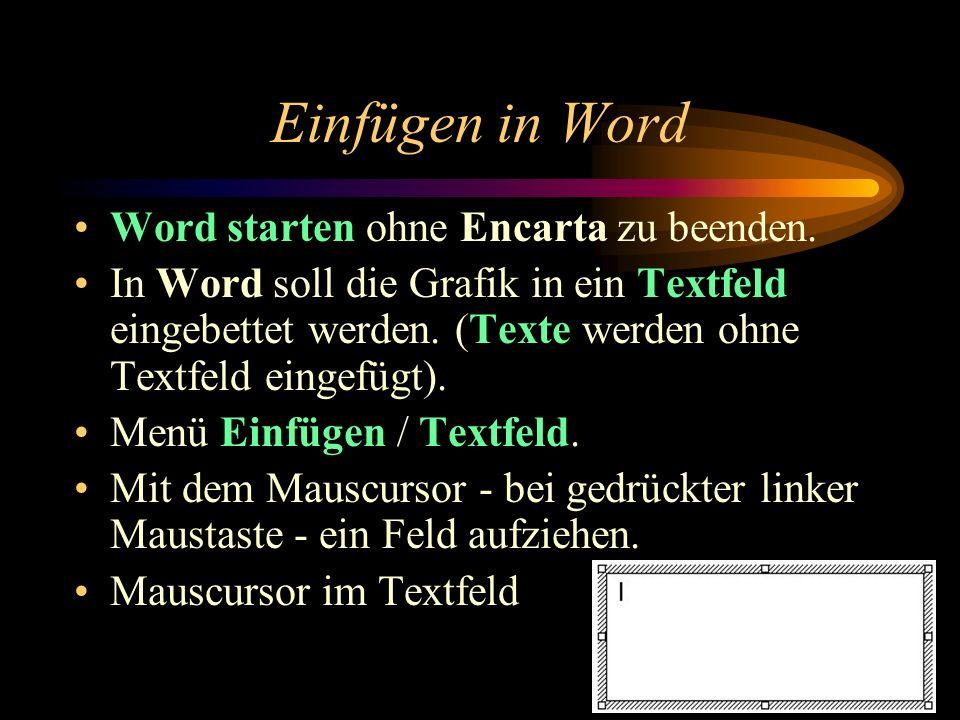 Verändern von Informationen Z. B. Erde und Mond aus der Encarta:
