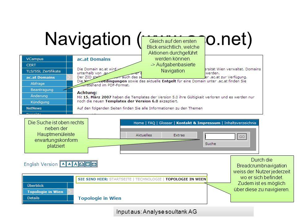 Content (www.aco.net) Content Unklare Abkürzung: Empfehlung: Abkürzungen, wenn möglich vermeiden und mit einem Tooltipp erklären.