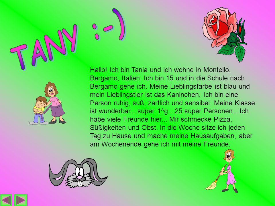 Hallo.Ich bin Tania und ich wohne in Montello, Bergamo, Italien.