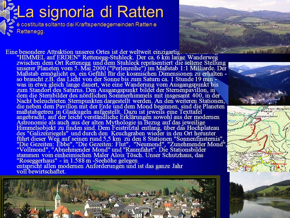 09/02/2014 Antonio Celeri 13 La signoria di Ratten è costituita soltanto dai Kraftspendegemeinden Ratten e Rettenegg.