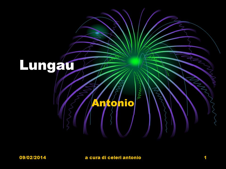 09/02/2014a cura di celeri antonio1 Lungau Antonio