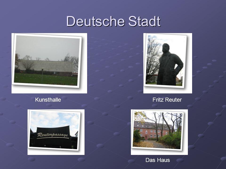 Deutsche Stadt KunsthalleFritz Reuter Das Haus