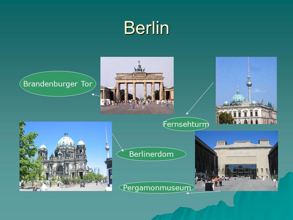 Berlin Brandenburger Tor Fernsehturm Pergamonmuseum Berlinerdom