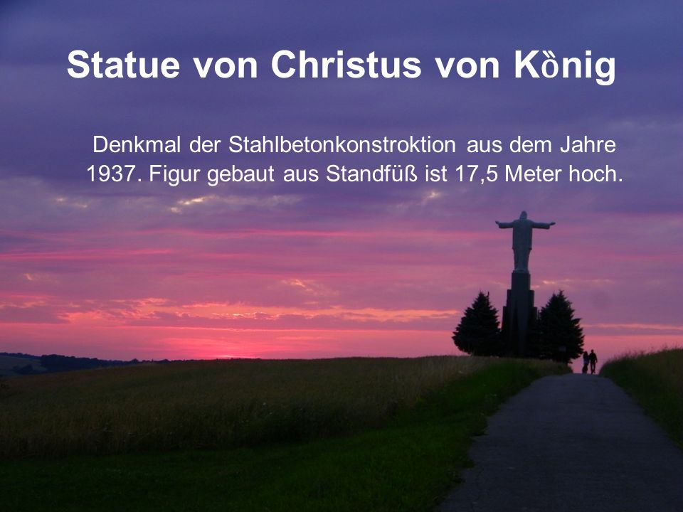 Statue von Christus von K ȍ nig Denkmal der Stahlbetonkonstroktion aus dem Jahre 1937.