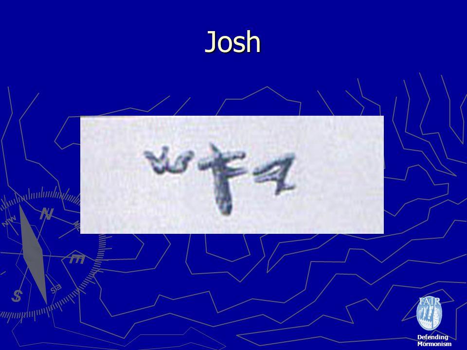 Defending Mormonism Josh