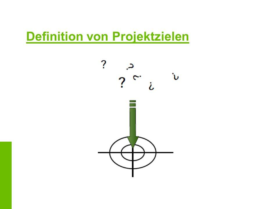 Definition von Projektzielen