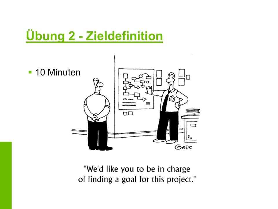 Übung 2 - Zieldefinition 10 Minuten
