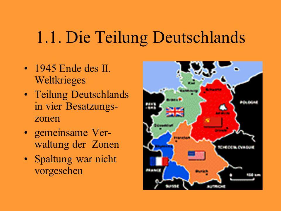 1.2. Teilung Berlins Teilung Berlins in vier Sektoren