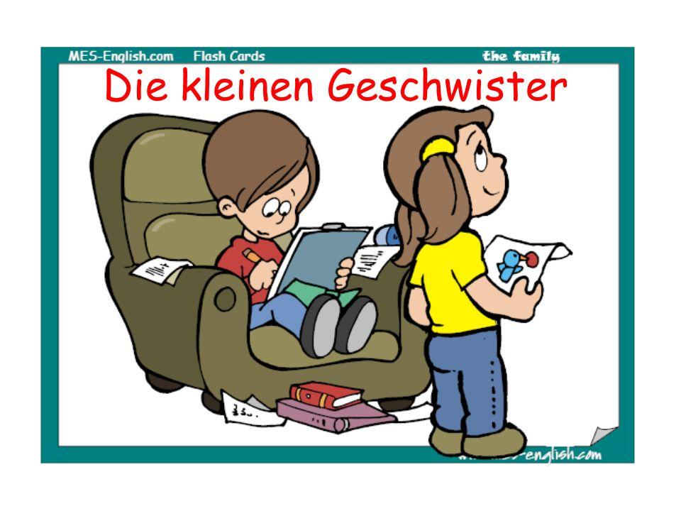 Das sind meine kleinen Geschwister.A. Sie lesen zusammen ein Buch.