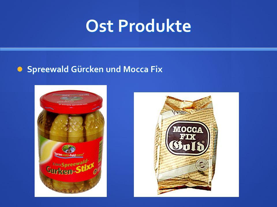 Ost Produkte Spreewald Gürcken und Mocca Fix Spreewald Gürcken und Mocca Fix