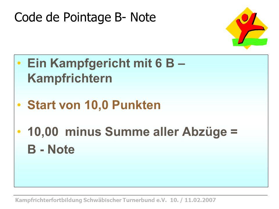 Kampfrichterfortbildung Schwäbischer Turnerbund e.V.