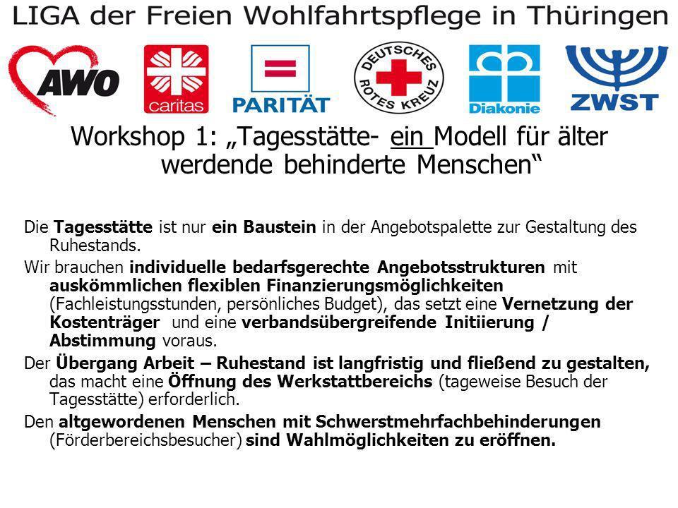 Workshop 2: Bedarfsgerechte Ruhestandsgestaltung?.