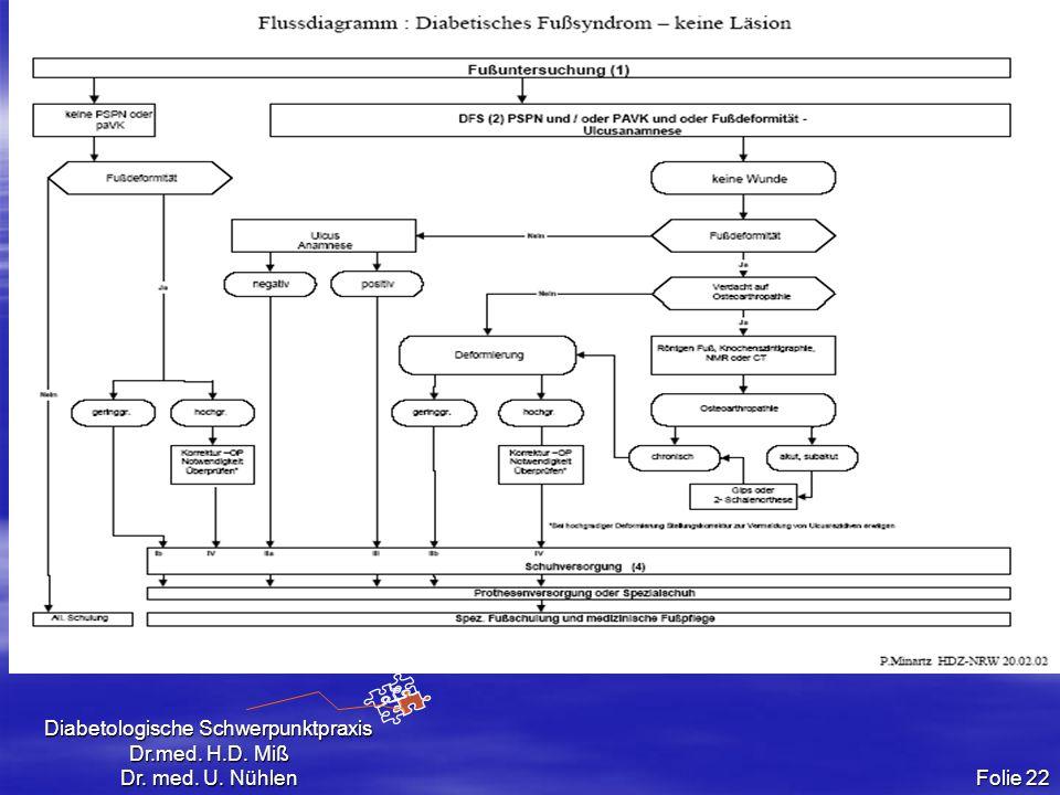 Diabetologische Schwerpunktpraxis Dr.med. H.D. Miß Dr. med. U. Nühlen Folie 22