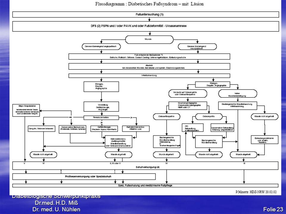 Diabetologische Schwerpunktpraxis Dr.med. H.D. Miß Dr. med. U. Nühlen Folie 23