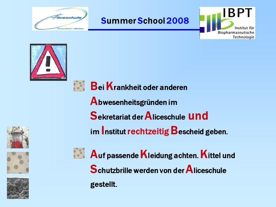 Summer School 2008 M itzubringen sind: N otizblock, S tifte, T aschenrechner H andy V erpflegung: E ssen, T rinken, M ittagessen kann gemeinsam in der