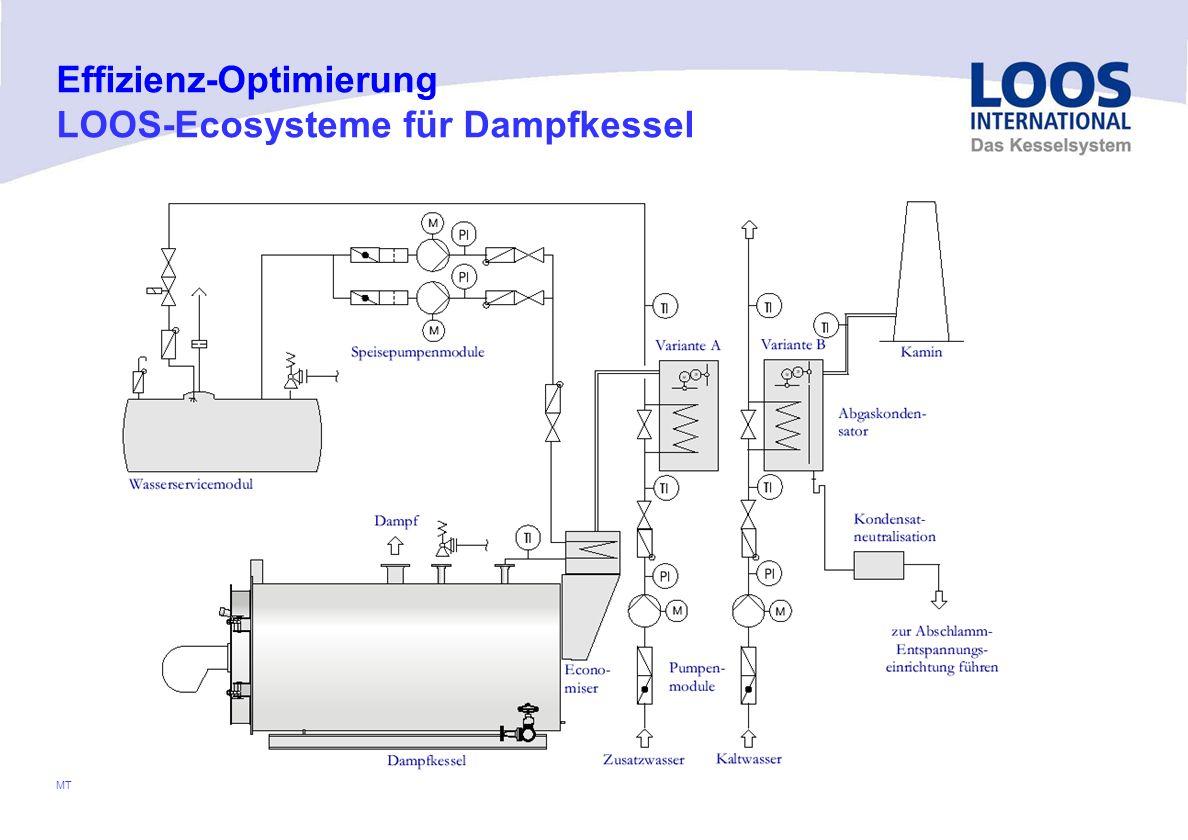 04/10 MT Voraussetzung hierfür: Economiser aus Edelstahl Kamin für nasse Fahrweise ausgelegt Neutralisation vorhanden Effizienz-Optimierung LOOS-Ecosy