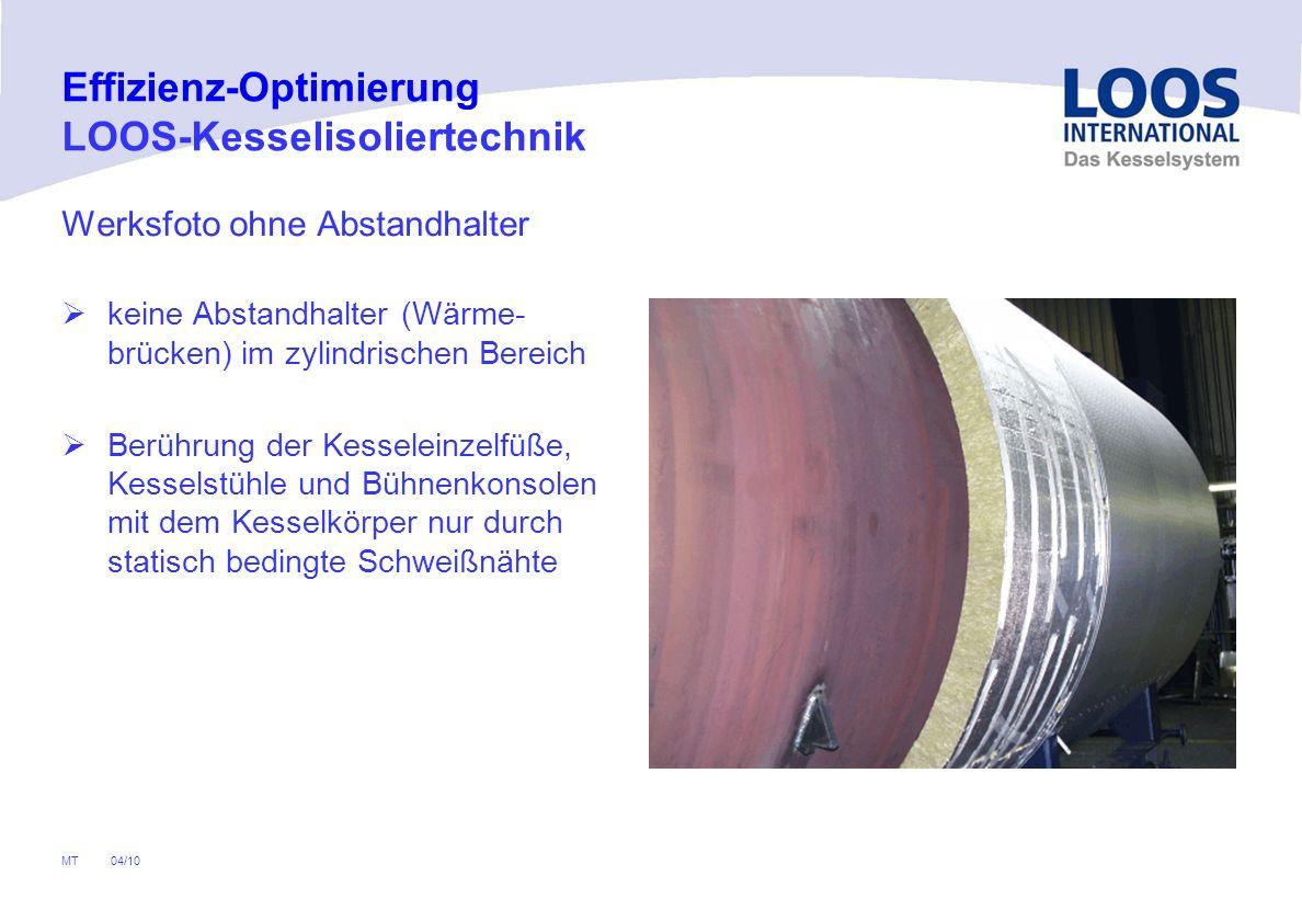04/10 MT Abschlammverluste Absalzverluste Abstrahlverluste an der Kesseloberfläche Abgasverluste Brennerseitige Optimierungsmöglichkeiten Effizienz-Op