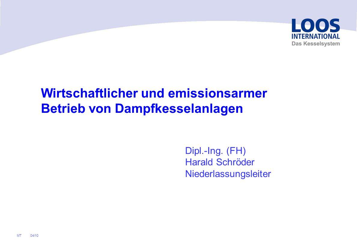 04/10 MT Wirtschaftlicher und emissionsarmer Betrieb von Dampfkesselanlagen Dipl.-Ing.