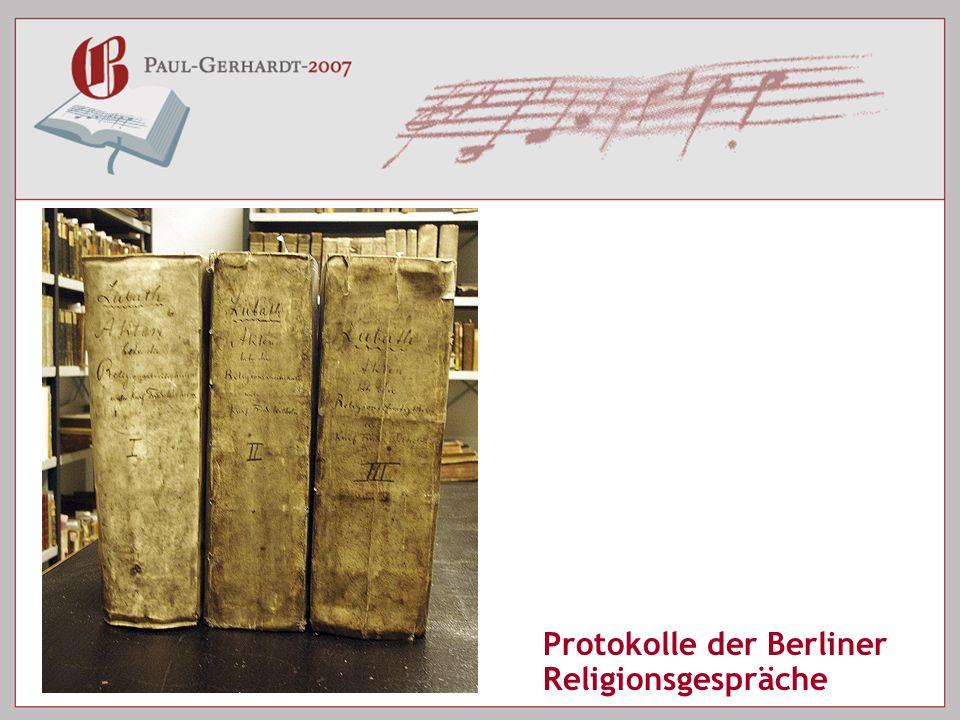 Protokolle der Berliner Religionsgespräche