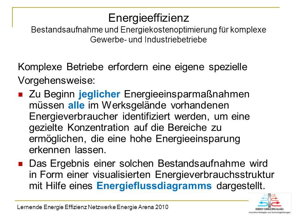 Energieeffizienz Bestandsaufnahme und Energiekostenoptimierung für komplexe Gewerbe- und Industriebetriebe Komplexe Betriebe erfordern eine eigene spe