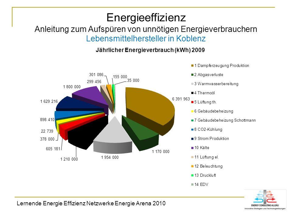 Energieeffizienz Anleitung zum Aufspüren von unnötigen Energieverbrauchern Lebensmittelhersteller in Koblenz Lernende Energie Effizienz Netzwerke Ener