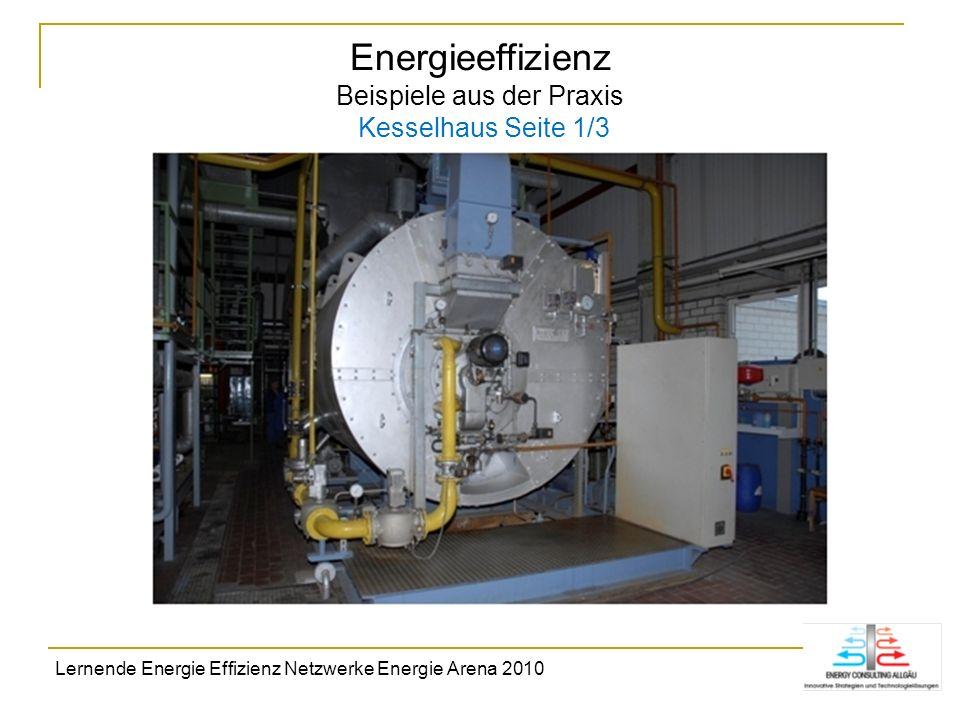 Energieeffizienz Beispiele aus der Praxis Kesselhaus Seite 1/3 Lernende Energie Effizienz Netzwerke Energie Arena 2010