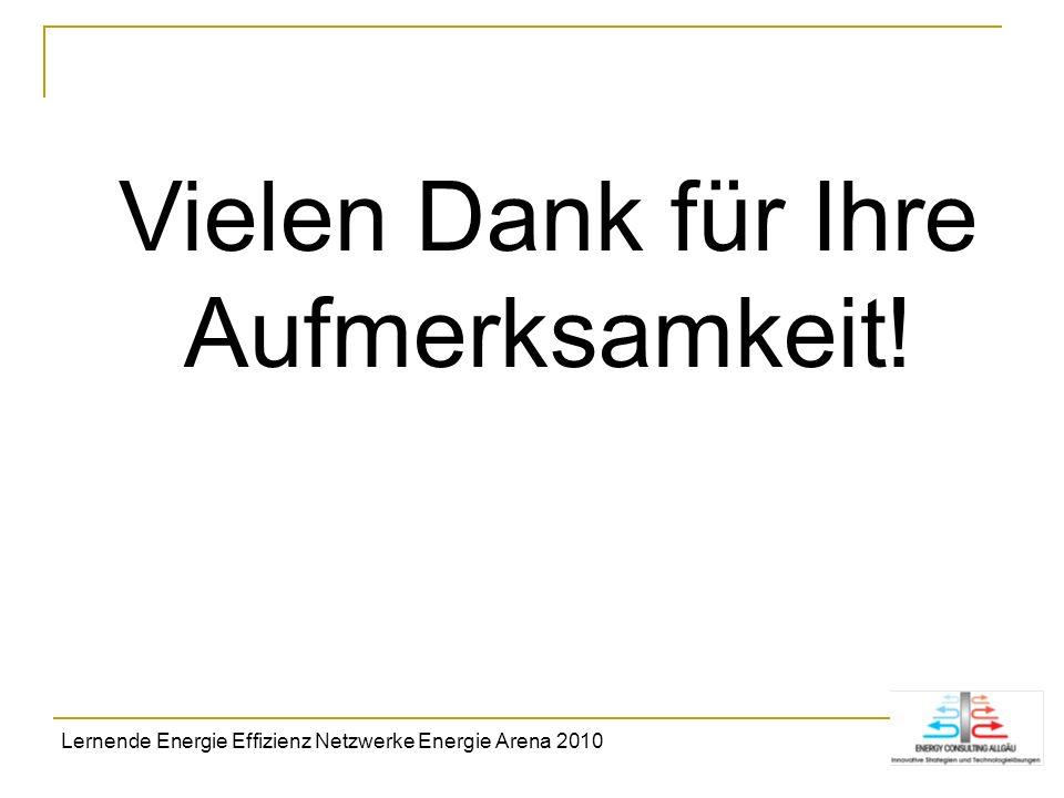 Vielen Dank für Ihre Aufmerksamkeit! Lernende Energie Effizienz Netzwerke Energie Arena 2010