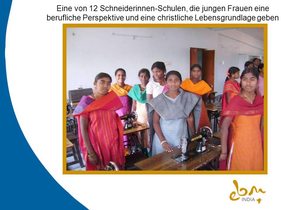 Eine von 12 Schneiderinnen-Schulen, die jungen Frauen eine berufliche Perspektive und eine christliche Lebensgrundlage geben