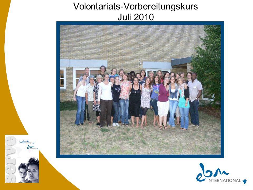 Volontariats-Vorbereitungskurs Juli 2010