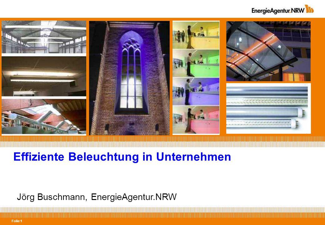 Folie 22 Nicht immer ist LED = Effizient Effizienz 27 lm/Watt (kw) 18 lm/Watt (ww) Effizienz 45 lm/Watt (kw) 35 lm/Watt (ww) Effizienz 10 - 20 lm/Watt (ww) Quellen: Lumitronix, Osram, Lampenheini, Eigene Berechnungen