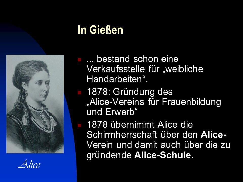 In Gießen...bestand schon eine Verkaufsstelle für weibliche Handarbeiten.